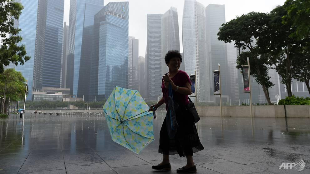 Sunday morning's temperature of 21.2 degrees Celsius is lowest since 2016: NEA