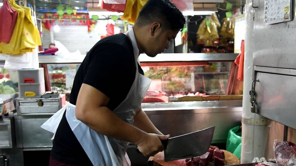On The Job as a wet market butcher: A dying trade being killed off
