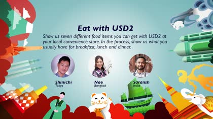 Eat with USD2: Shinichi, Nae and Saransh