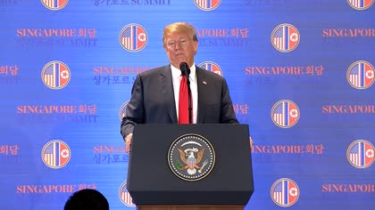 """Trump on cost of North Korea's denuclearisation: """"We won't help them"""" 