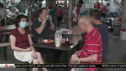 Hawker centres welcome diners back in Phase 2 of Singapore's reopening | Video