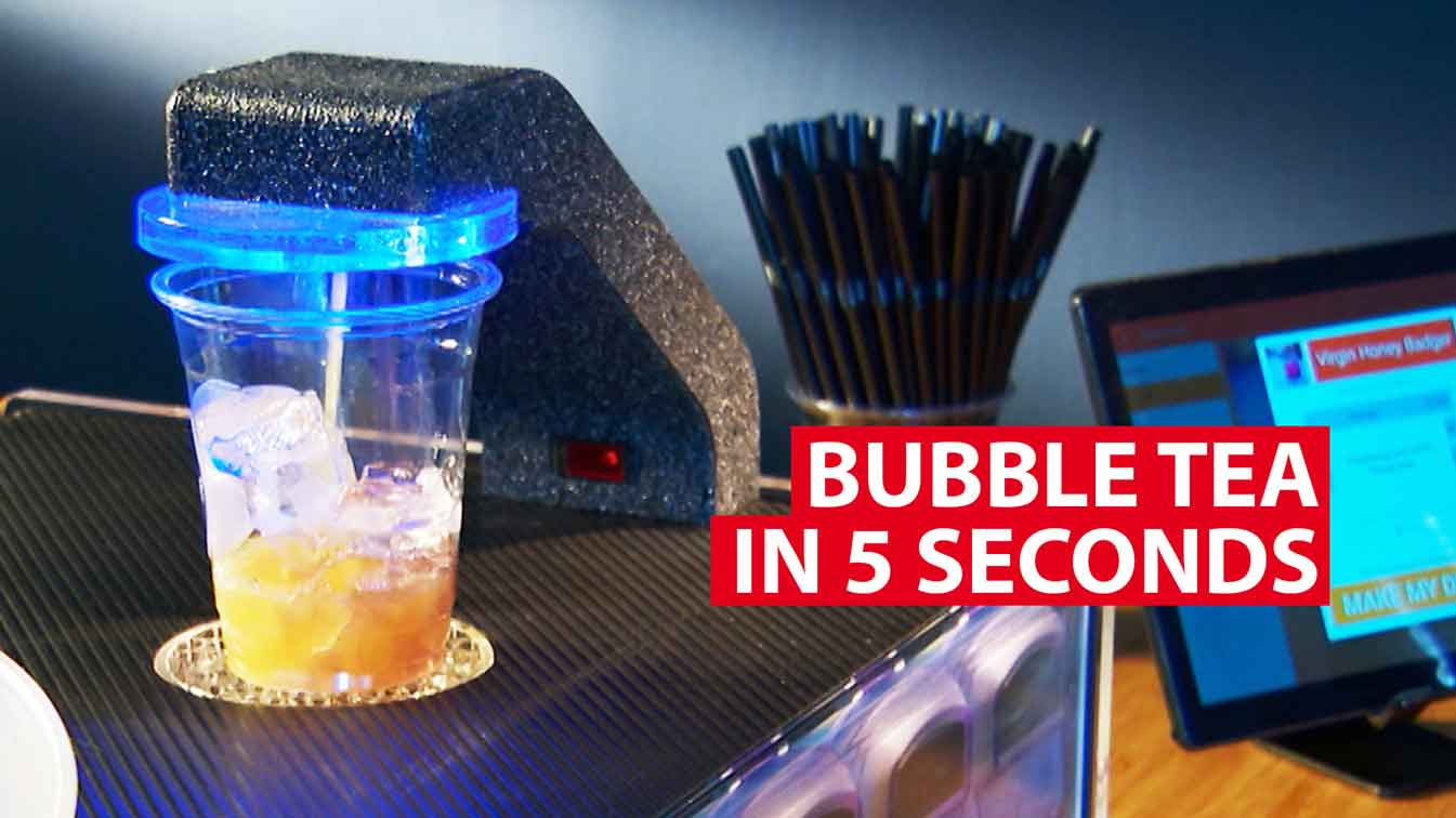 Bubble tea in 5 seconds