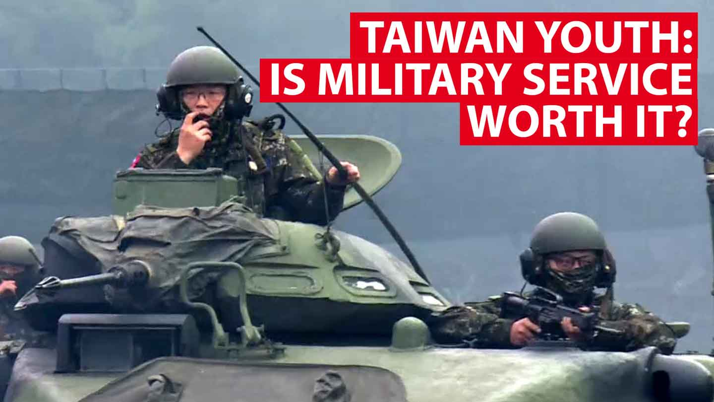 Is military service worth it? Taiwan youth ask