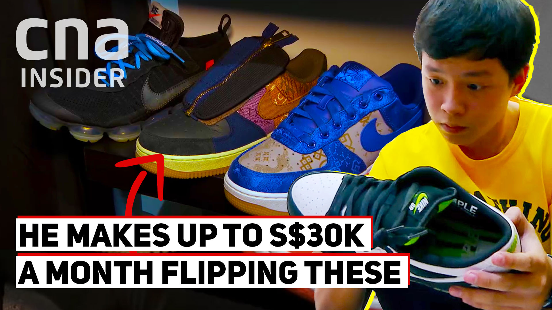 16-year-old makes up to S$30k a month flipping sneakers