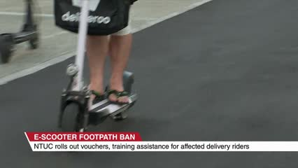 Food delivery riders opt in to trade their e-scooters for LTA-approved devices | Video