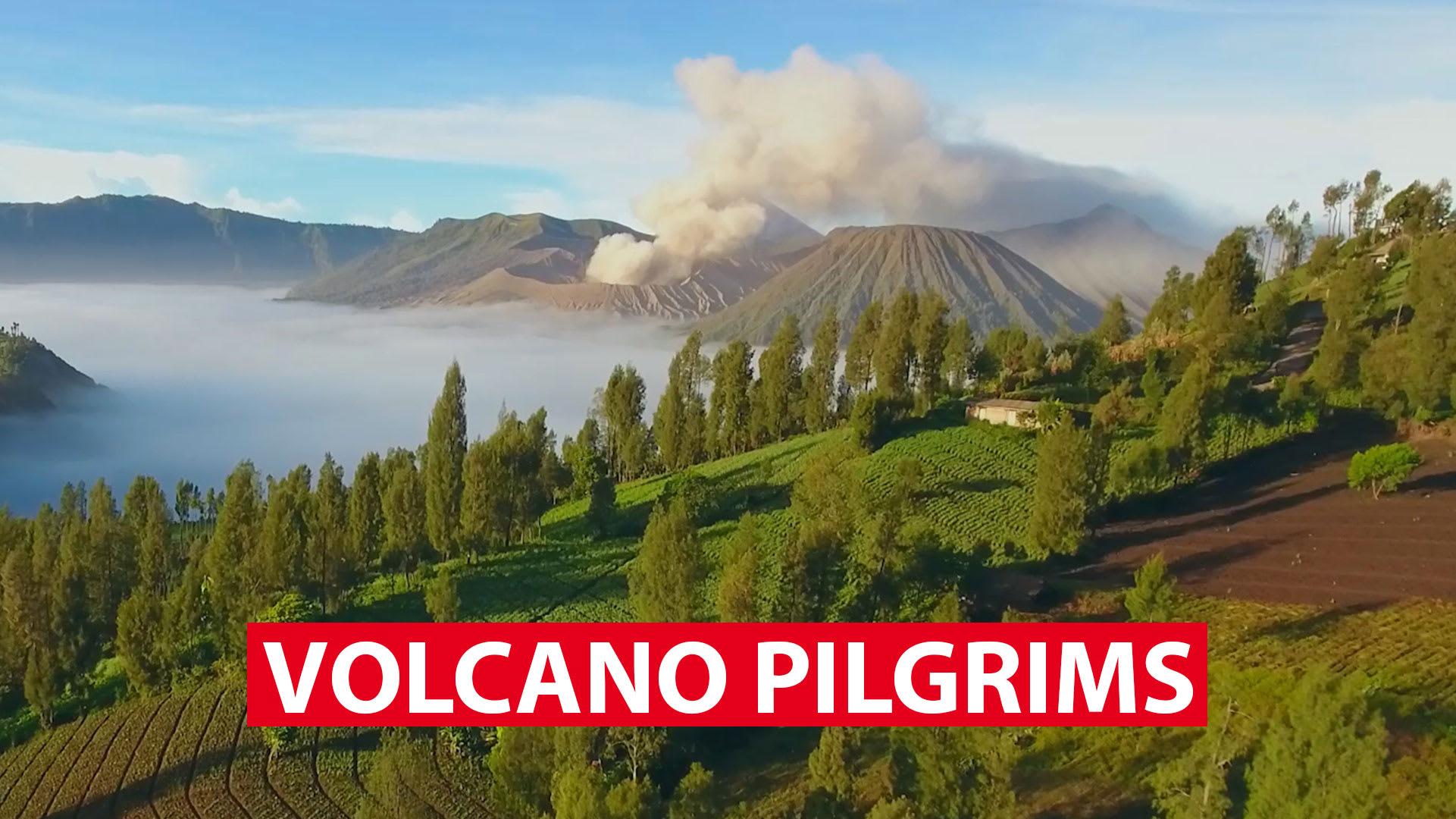 Aerial Asia: Volcano pilgrims