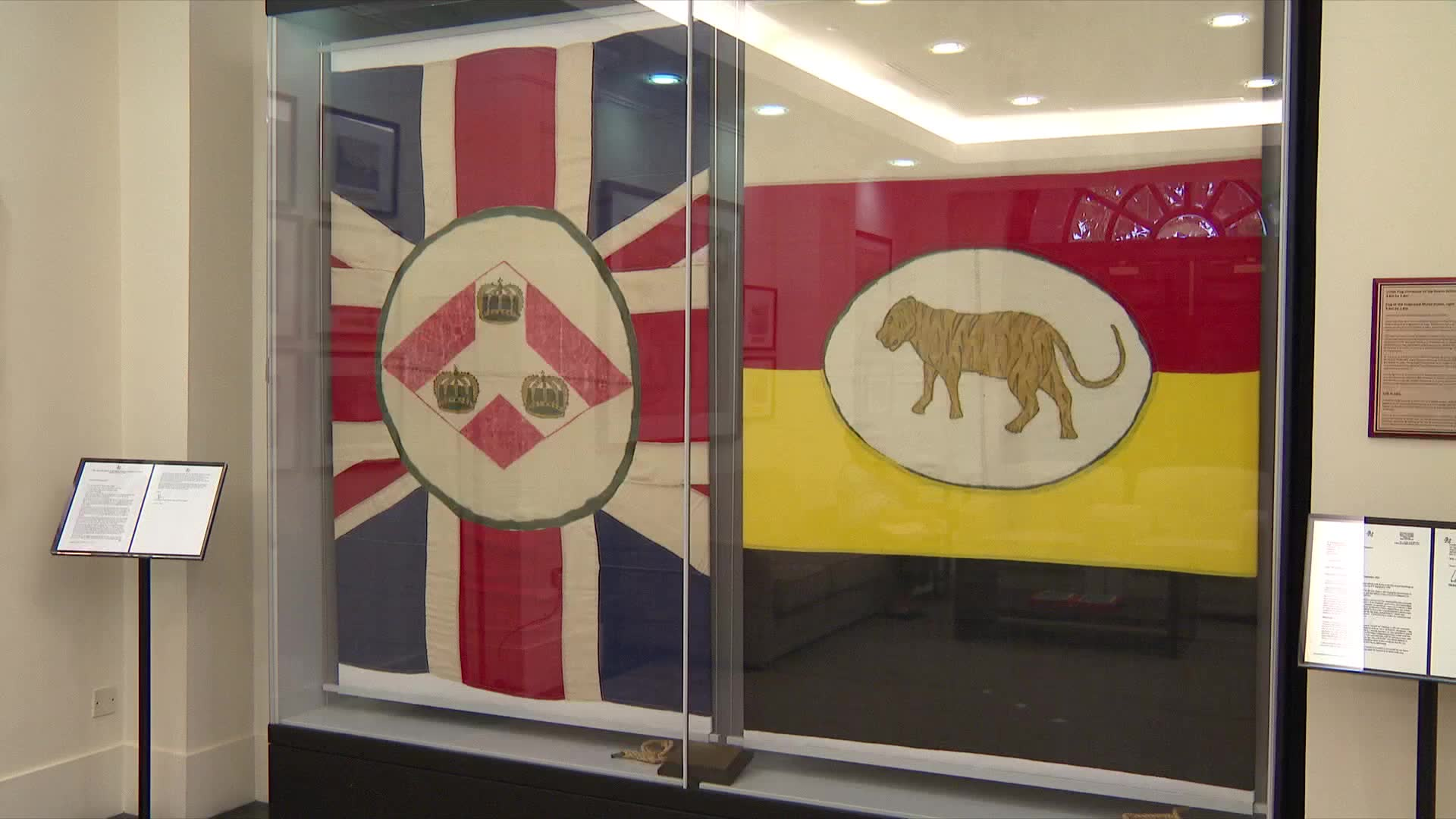 Historical flags returned to Singapore | Video