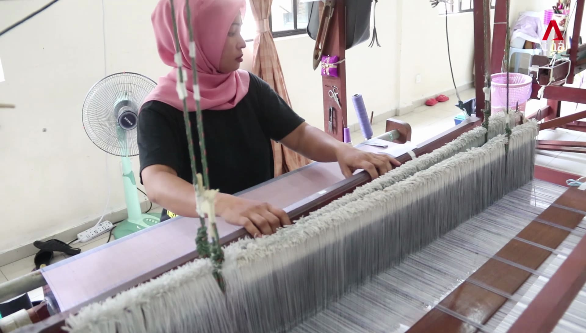 Royal Tenun Pahang - fabric fit for Malaysian royalty | Video