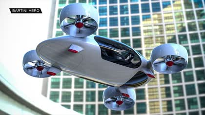 Russian start-up tests futuristic flying car   Video