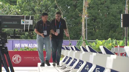 The Singaporean behind the SEA Games pool in the   Philippines | Video