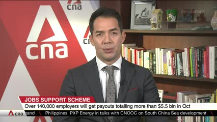 More than 140,000 employers to receive S$5.5 billion in Jobs Support Scheme payouts from Oct 29 | Video