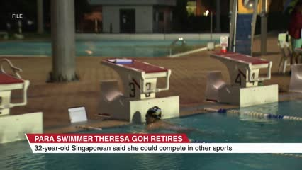 Paralympic swimmer Theresa Goh retires | Video