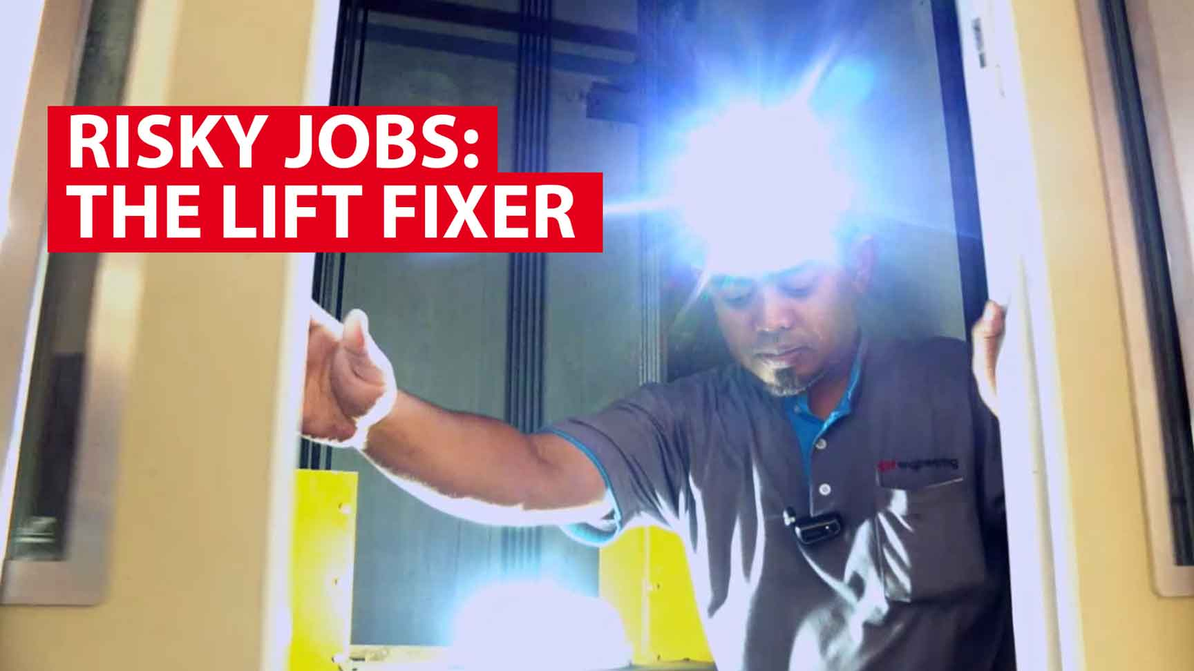 Risky jobs: The lift fixer