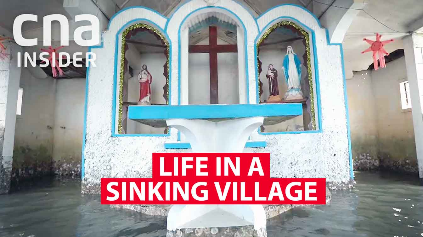 Living in a village that's sinking into the sea