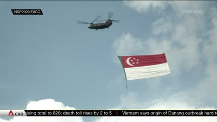NDP 2020 aerial display goes to heartlands, includes tribute to COVID-19 frontliners | Video