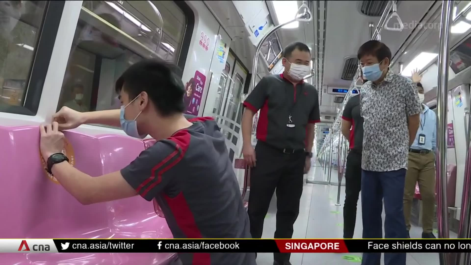 Safe distancing stickers on public transport removed as circuit breaker ends | Video