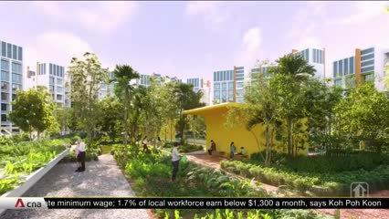 HDB launches roadmap for designing towns, with focus on healthy living, green spaces and smart technology | Video