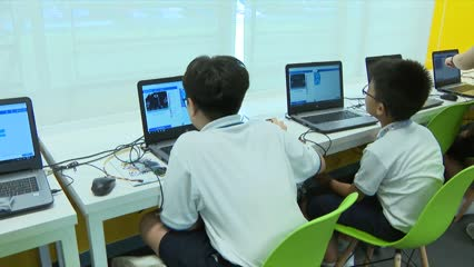 1,000 disadvantaged primary school students to learn about robotics, 3D printing | Video