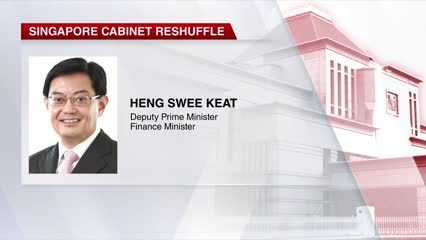 Heng Swee Keat to be promoted to DPM in Cabinet reshuffle | Video
