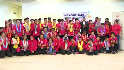 'Welcome back Team Singapore!': Family, friends celebrate Special Olympics homecoming | Video