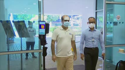 AI-driven system that speeds up temperature screening piloted at 2 locations | Video