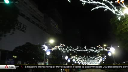Christmas decorations light up Orchard Road without usual street activities and crowds | Video