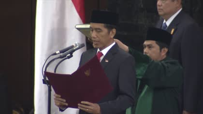 Indonesian President Widodo marks four years in office   Video
