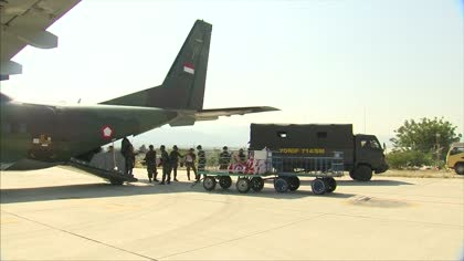 International aid arrives in Donggala after deadly tsunami | Video
