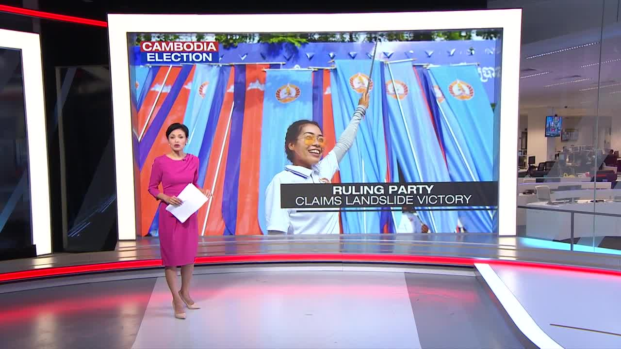 Cambodia's ruling party claims all seats in 'flawed' elections | Video