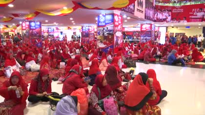Malaysia's UMNO party mobilises women's wing to rally support ahead of polls