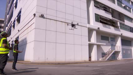 Drones linked to AI system to improve inspection of industrial buildings | Video