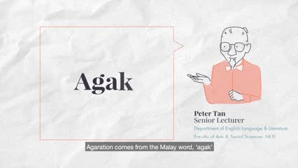 Singapore Slang: Agaration