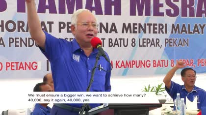 Najib hard on campaign trail to woo voters