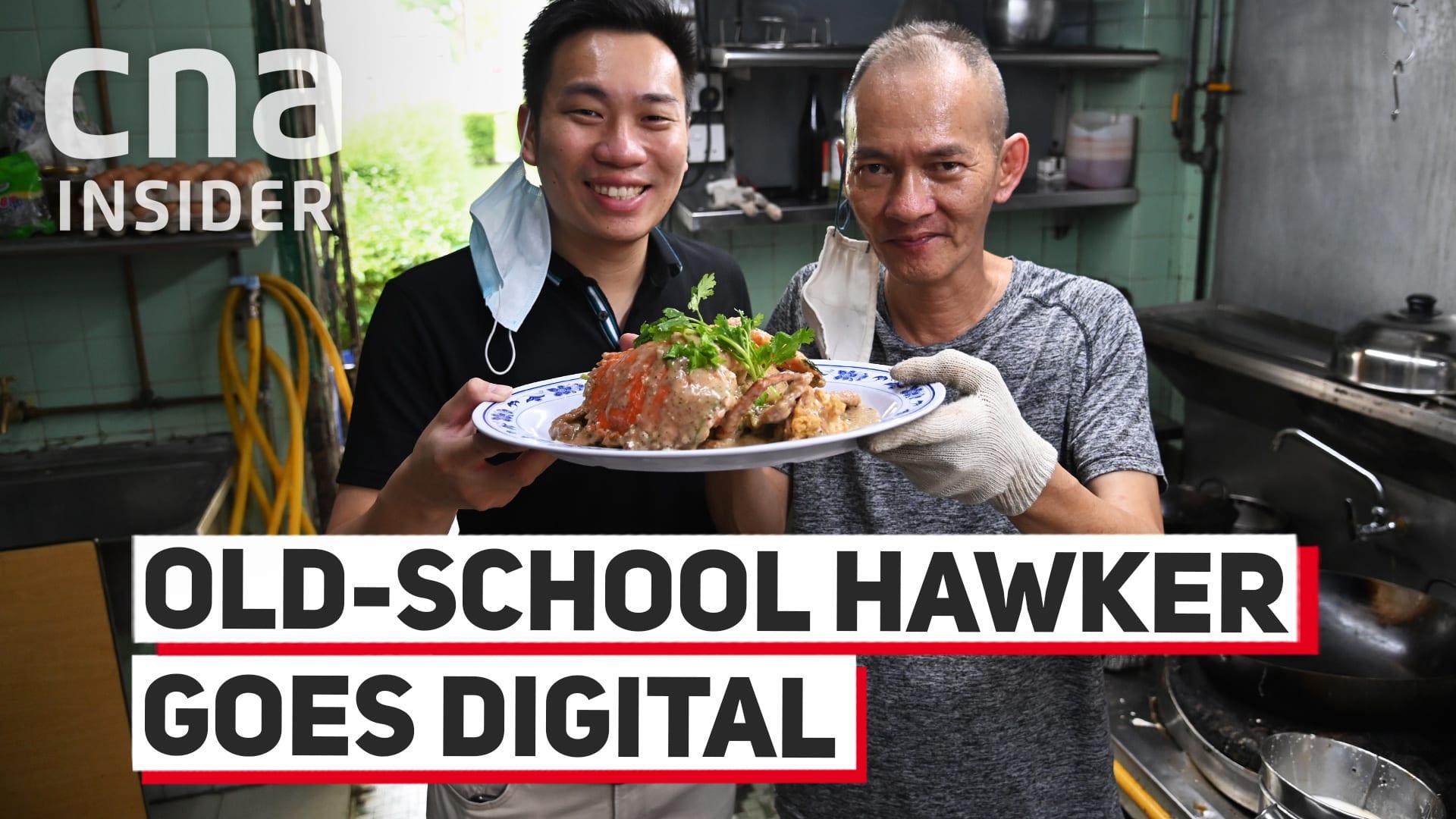 Old-school hawker goes digital