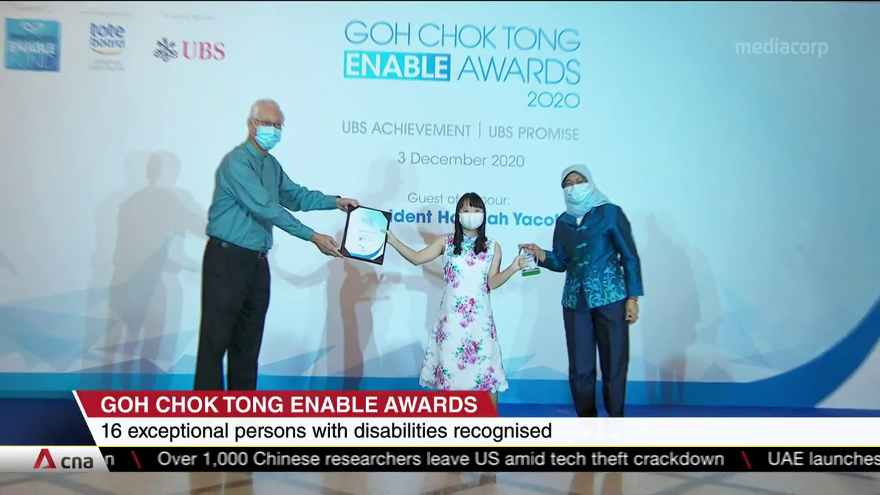 Goh Chok Tong Enable Awards honours 16 awardees in second edition | Video