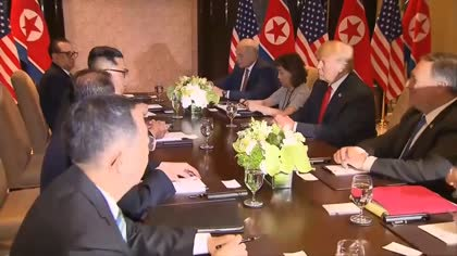 Singapore summit: Kim and Trump hold bilateral meetings at Sentosa | Video