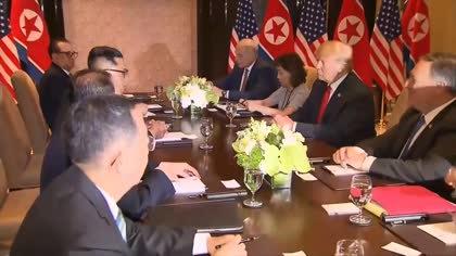 Singapore summit: Kim and Trump hold bilateral meetings at Sentosa | Video