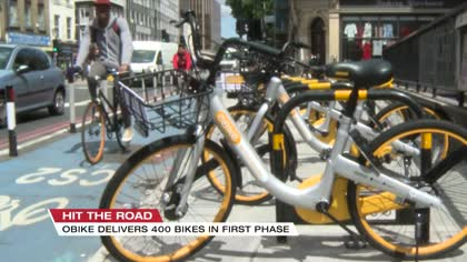 oBike launches 400 station-less cycles in East London
