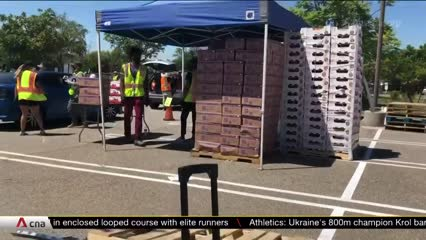 US food banks see surge in distribution amid COVID-19, unemployment   Video