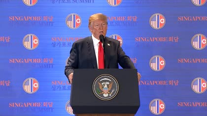 Singapore summit: US Trump on North Korea's human rights record | Video
