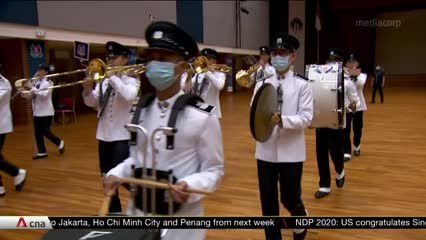 NDP 2020: Police band takes parade rehearsals online amid COVID-19 measures   Video