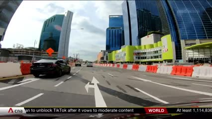 First day of road changes in Novena for North-South Corridor construction | Video