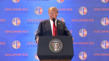 """North Korea denuclearisation """"takes a long time scientifically"""": Donald Trump at Singapore summit 
