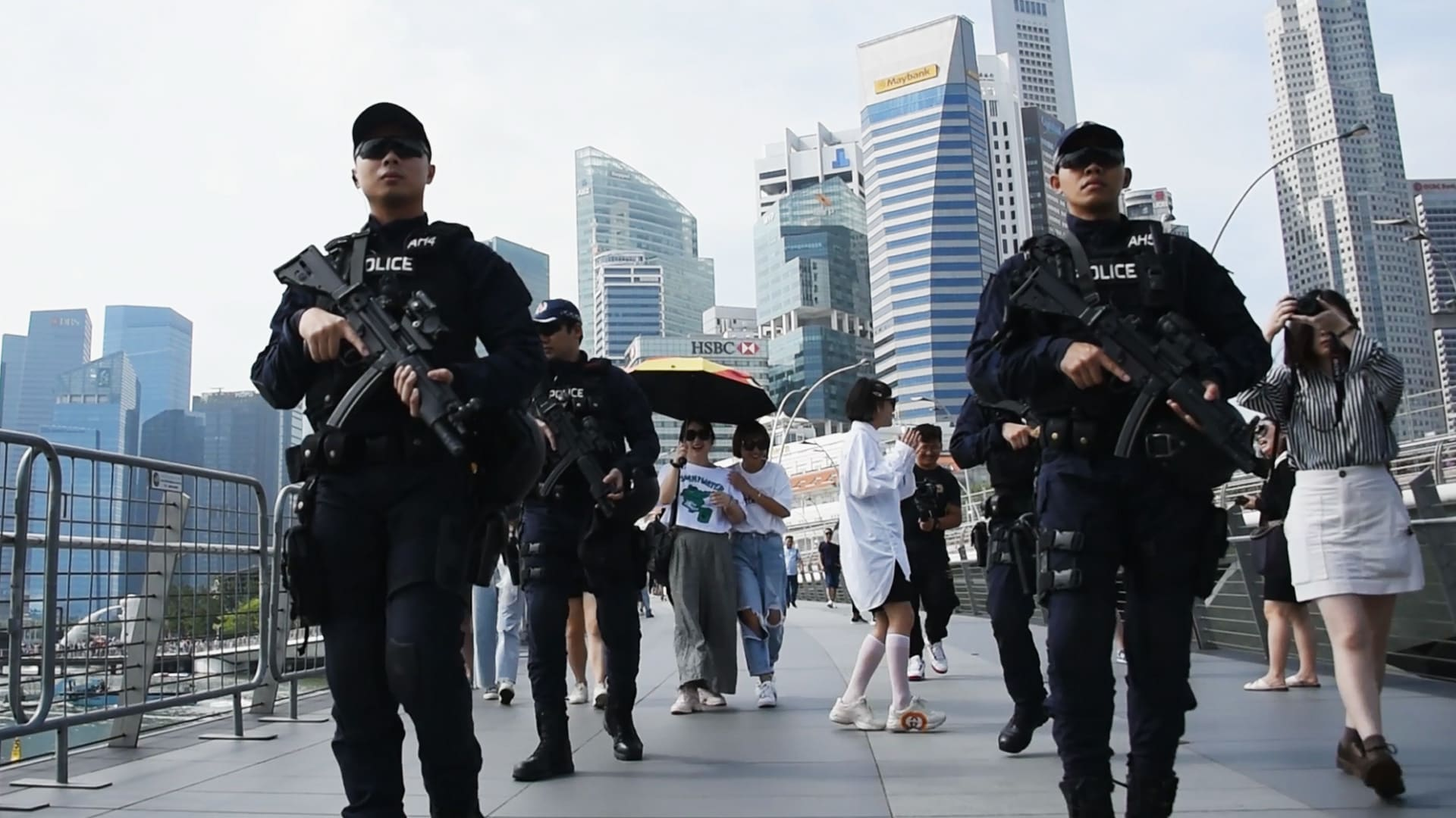 How Singapore police are keeping Marina Bay safe during the New Year's Eve countdown | Video