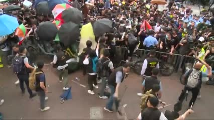 Anti-government protests hit business in Hong Kong | Video