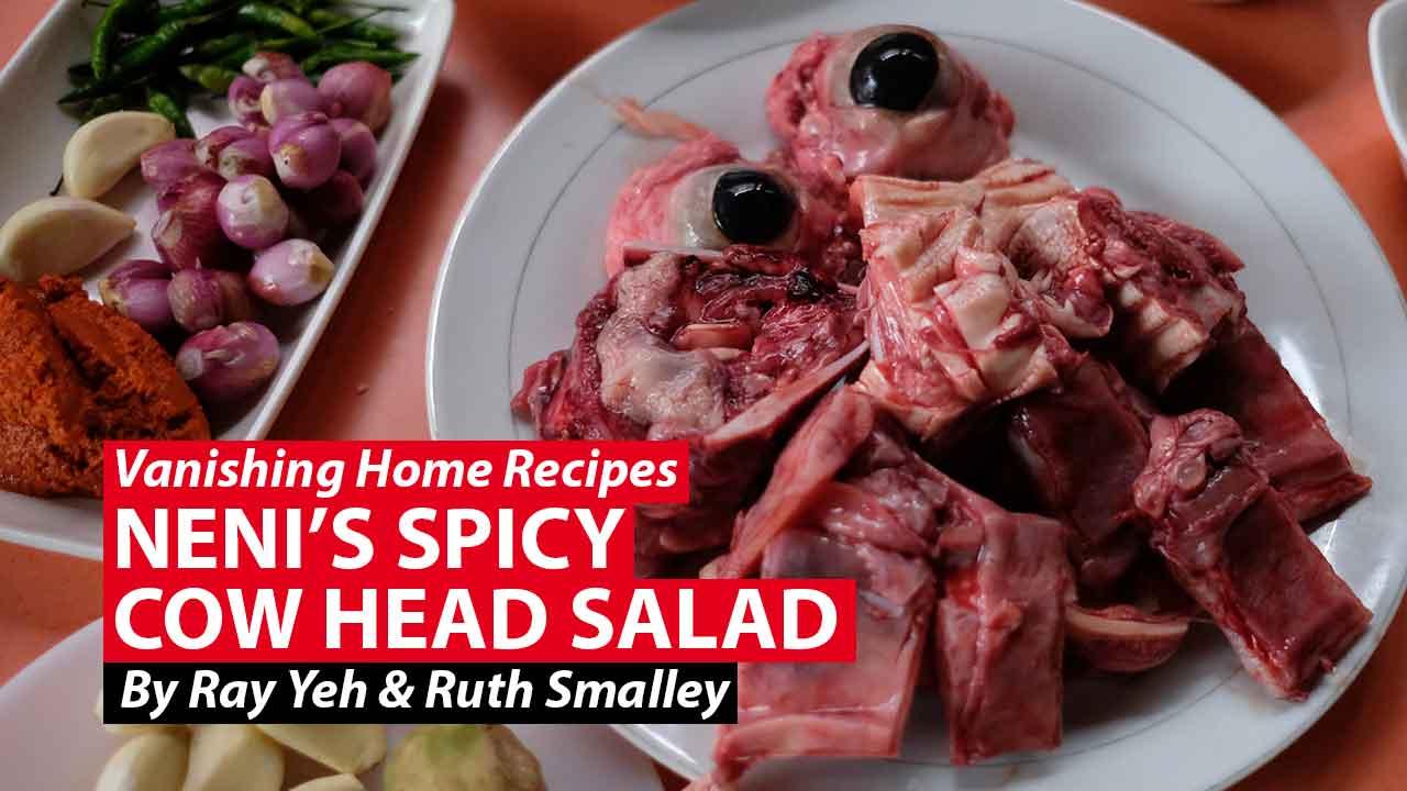Neni's spicy cow head salad: An unusual Padang recipe