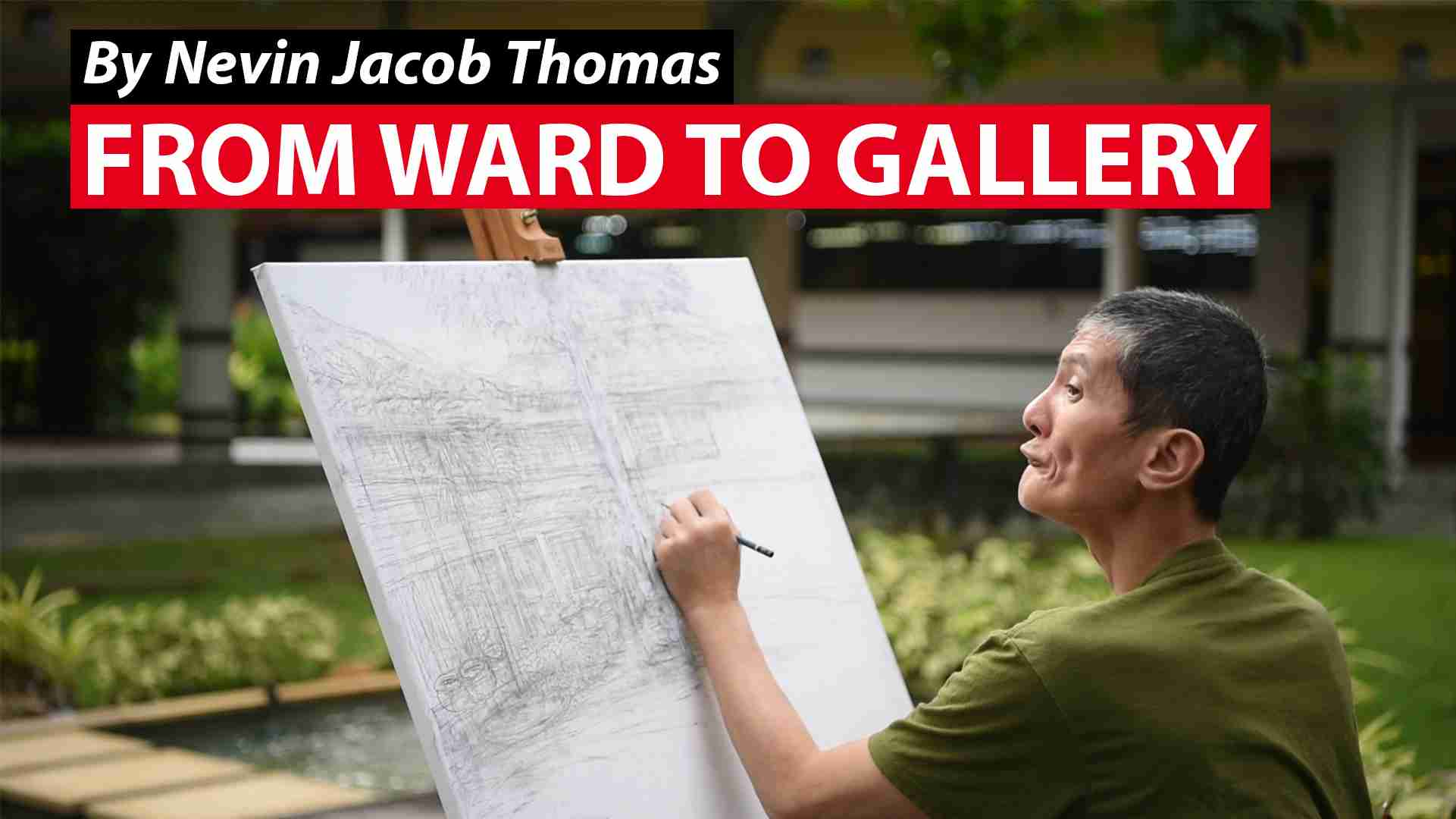 From ward to gallery: The artist with schizophrenia