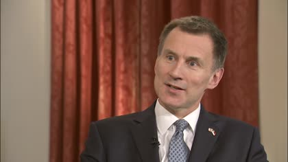 Jeremy Hunt, United Kingdom's Foreign Secretary
