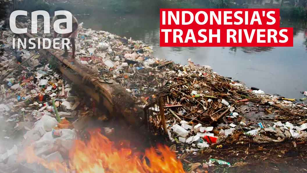 Indonesia's flowing rivers of trash