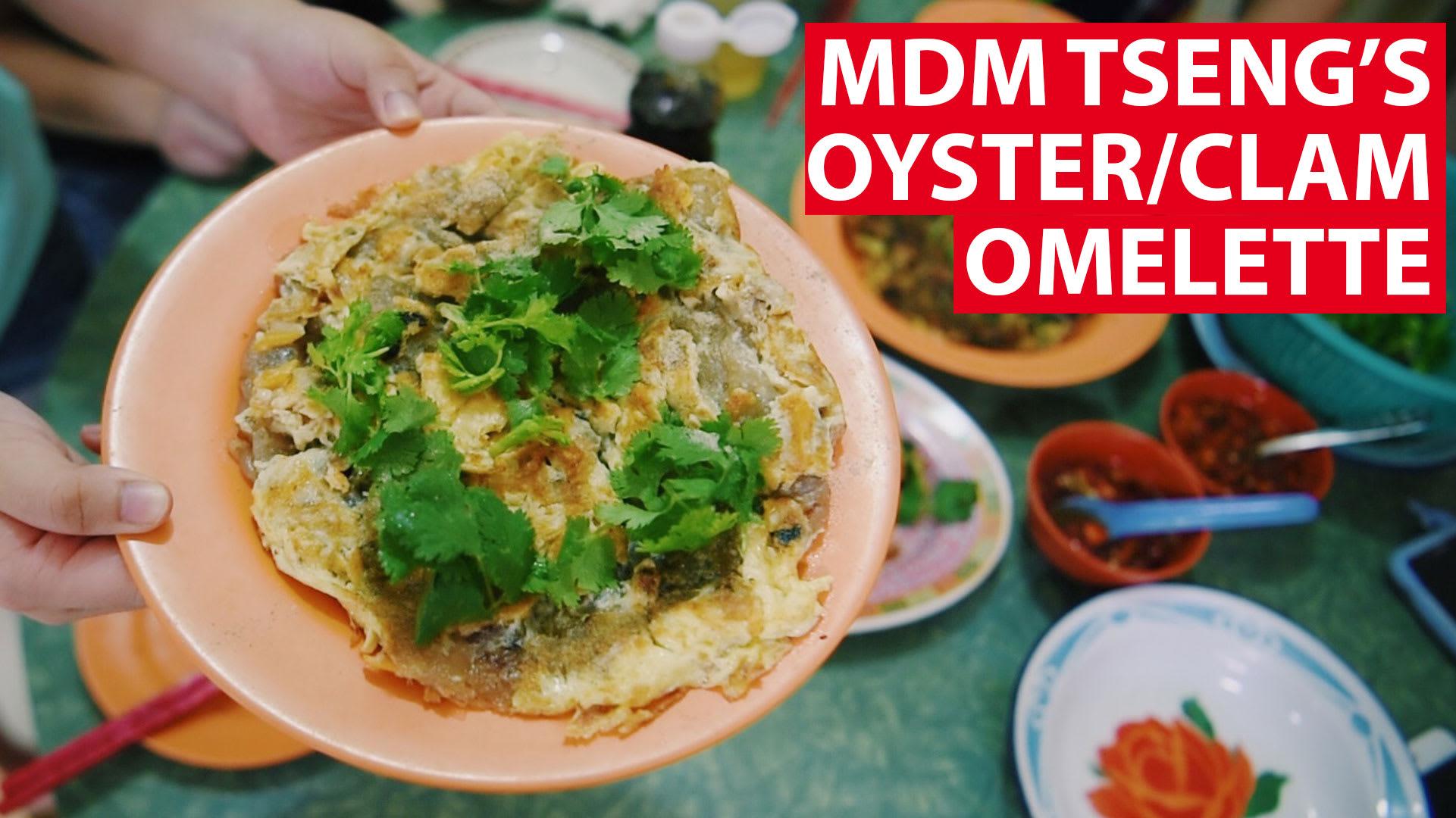 Mdm Tseng's oyster/olam omelette